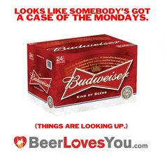 Happy Monday Beer Lovers! Hopefully your Monday starts to look this good! #budweiser #beerlovesyou
