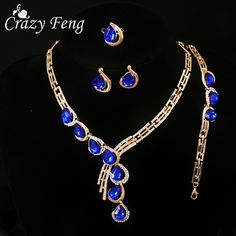 Cheap jewelry sets, Buy Quality crystal jewelry set directly from China fashion…