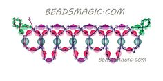 Free pattern for necklace Fatima --2----------u need seed beads 11/0, bicons 5mm, pearl beads 5 mm.