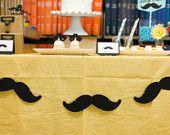 Mustache Garland - Little Man Birthday Bash - Photo prop - baby shower party decorations