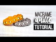 Anillo simple » 💍 tutorial | como hacer | diy ● Ring #117 - YouTube Macrame Rings, Macrame Art, Macrame Knots, Macrame Jewelry, Macrame Bracelets, Bracelet Crafts, Jewelry Crafts, How To Do Macrame, Diy Bracelets How To Make