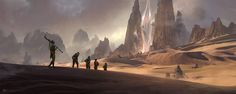 Khalon city and the great portal, Simon Fetscher on ArtStation at https://www.artstation.com/artwork/dooge