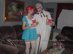 Fast Food Fashion: Colonel Sanders and Wendy Couple Costume ... This website is the Pinterest of costumes