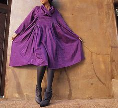 Iris...Autumn dress purple mix silk one size fits by cocoricooo, $59.00