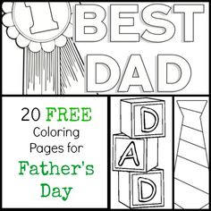 20 FREE Father's Day Coloring Pages