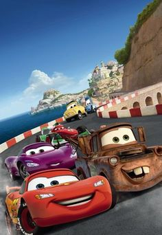 For the kids: Disney Cars Wall Mural