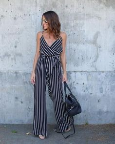 striped jumpsuit-Casual spring to summer outfits – Just Trendy Girls