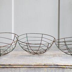 Vintage Wire Planting Basket