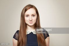 Stock Photo : Portrait of young girl looking to camera