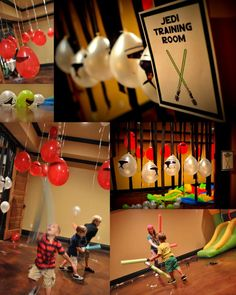 If your party is indoors, tape low-hanging Stormtrooper balloons from the ceiling.