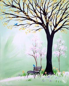 How to Paint Elizabeth's Spring Garden