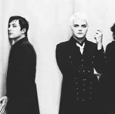 Frank Iero and Gerard Way ~ My Chemical Romance -this looks like some novela type opening guys can u not
