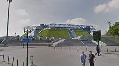 Palais Omnisports de Paris-Bercy - 1981-84 by M.Andrault, P.Parat & A.Guvan - #architecture #googlestreetview #googlemaps #googlestreet #france #paris #brutalism #modernism