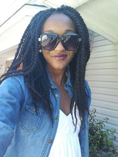 Funky girl in #twists #naturalhairstyle  Loved By NenoNatural!