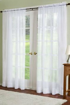 "Residence Linen Sheer Look Collection Dylan Curtain Panel, White by Residence. $31.94. Order 2 to 3 times rod width for proper fullness. 2 by 6 dylan rod pocket; inside diameter 1-5/8"". Has 4"" heading. Rod Pocket Panel 2-40"" x 84"". Sold in pairs. 2 x 6 Dylan Rod Pocket; inside diameter 1-5/8"". Rod pocket panel 2-40"" by 84"". Linen sheer look collection. these elegant lightweight textured linen semi-sheer panels add elegance and sophistication to any room in the home...."