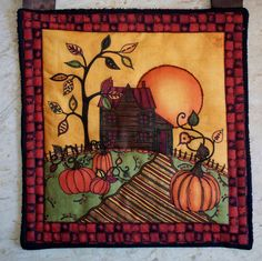 Halloween Wallhanging Quilt // Harvest Moon Banner