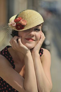 This hat is beautiful for a Soft Autumn. Looks gamine to me, too!