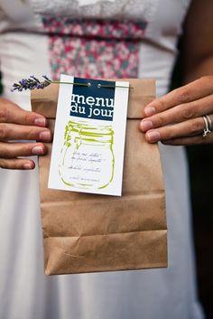 Picnic Wedding - Brown Paper Bag and Menu