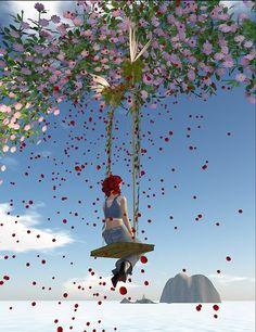 Rose petal swing