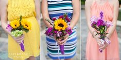 Unique bridesmaid bouquets! - Erin Kranz Photography