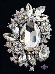 Rhinestone Brooch Pin Rhinestone Crystal Brooch