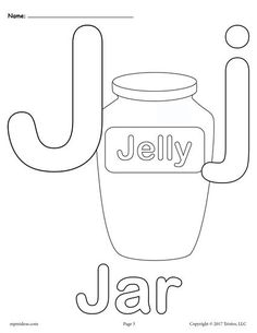 FREE Printable Uppercase And Lowercase Letter J Coloring Page Worksheets Like This Are