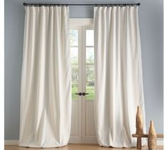 Curtains have the power to entirely transform a room, but they can also be expensive. We handpicked the best affordable curtains to elevate a room Interior Shutters, Interior Barn Doors, Striped Curtains, Drapes Curtains, Striped Linen, Cotton Curtains, Internal French Doors, Double Doors, French Country Living Room