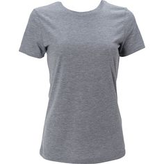 Simplex Apparel Triblend Womens Crew Tee ($19) ❤ liked on Polyvore featuring tops, t-shirts, grey, crew-neck tops, gray t shirt, crewneck t shirt, gray crew neck t shirt and grey t shirt