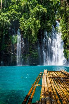 Tropical getaway at the Tinago Falls in Iligan, Philippines