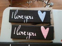 I love you. Blue&pink