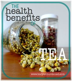 Tea varieties not only vary in taste, but in beneficial health qualities as well. Read about 12 types of tea and their health benefits.