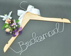 SaleWedding hangerPersonalized wedding by Blackteawhitetea on Etsy