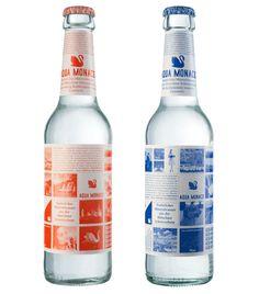 mineral water packaging by german designer Schmidt Thurner von Keisenberg