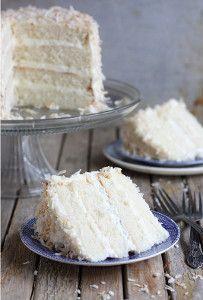 Southern Coconut Lover's Cake   FaveSouthernRecipes.com  call for cake flour