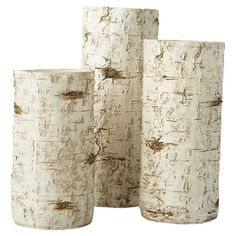 Showcasing a birch branch-inspired design and natural finish, this rustic candleholder set brings a touch of log cabin charm to your living room or den.