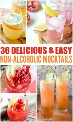 36 Delicious and Easy Mocktails These easy mocktail recipes are SO good! Fresh, simple, and perfect for the whole family. The post 36 Delicious and Easy Mocktails & Food appeared first on Yorgo Angelopoulos. Easy Mocktails, Easy Mocktail Recipes, Mocktail Drinks, Drink Recipes Nonalcoholic, Non Alcoholic Cocktails, Drinks Alcohol Recipes, Punch Recipes, Refreshing Drinks, Non Alcoholic Drinks For Wedding