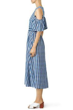 Blue Shiloh Dress by Tanya Taylor