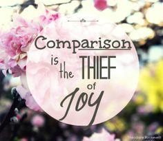 the daily detour, comparison is the thief of joy