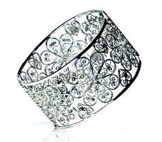 Arabel Lebrusan Filigree Rosette silver bangle