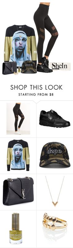"""""""High Waist"""" by prettysexiness ❤ liked on Polyvore featuring NIKE, Hood by Air, 21 Men, Yves Saint Laurent, Louis Vuitton and Floss Gloss"""