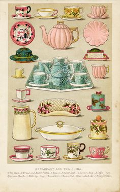 Old Design Shop Mrs. Beetons Breakfast and Tea China