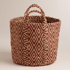 Need to Spruce Up Your Space for Fall? Check out this Jute Storage Basket from Cost Plus World Market's Desert Caravan Collection. >> #WorldMarket Home Decor Ideas, Fall, #SpruceUpYourSpace