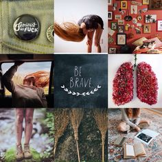 """""""'Anything's possible if you've got enough nerve.'"""" Ginny Weasley mood board…"""