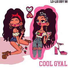 <Too cool fo ya> #doodle #characterdesign #illustration #draw #style #fashion #art #cartoon #desenho #arte #retro #moda #blackgirl #afro #coolgirl