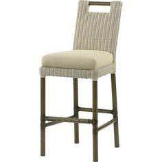 McGuire Furniture: Thomas Pheasant Woven Core Bar Stool: No. WS-370