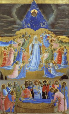 The Death and the Assumption of the Virgin, about 1432, Fra Angelico, Tempera and gold on wood, 61.8 x 38.5 cm
