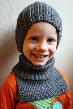 BekkiBjarnoll: OPPSKRIFT Barnehagehals / crochet neck warmer pattern