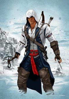 Assassin's Creed - Game (Connor Ratonhnhaké-ton Kenway) Assasin Creed Unity, Assassins Creed Series, Gamify Your Life, Assassin's Creed 3, Assasins Cred, Assassin's Creed Hidden Blade, Connor Kenway, Assassin's Creed Wallpaper, Templer