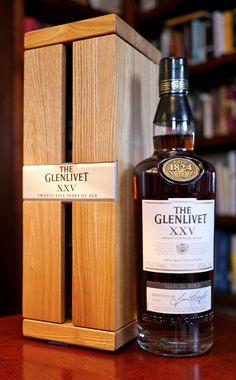 The Glenlivet XXV Single Malt Scotch Whisky - John Stevenson Cigars And Whiskey, Whiskey Drinks, Scotch Whiskey, Bourbon Whiskey, Whiskey Bottle, Tequila, Rum, Alcoholic Drinks, Cocktails