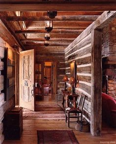 37 rustic log cabin homes design ideas house plans дом мечты Log Cabin Living, Small Log Cabin, Log Cabin Homes, Cozy Cabin, Winter Cabin, Log Cabins, Cozy Winter, Mountain Cabins, Rustic Cabins